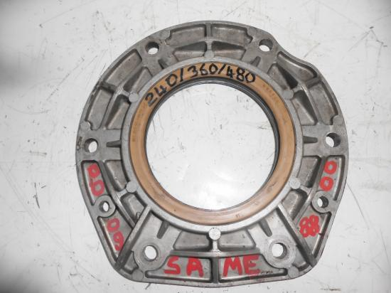 Carter etancheite plaque aluminium palier joint vilebrequin moteur tracteur agricole same 240 360 480