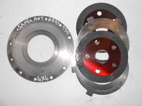 Mecanisme disque de frein pont avant 4x4 tracteur same antares 130