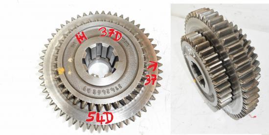 Pignon gamme lente rapide marche arriere rapport boite de vitesse tracteur mc cormick international ih 744 844 844sb sb