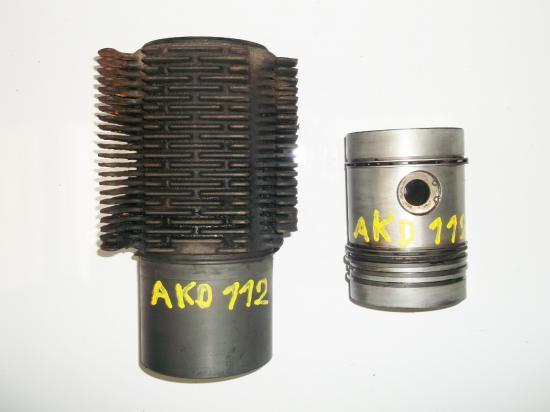 Piston chemise cylindre tracteur renault d22 d35 n70 super 6 6d akd112 akd 112
