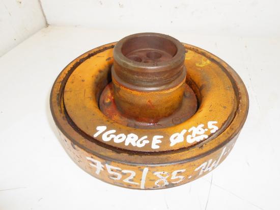 Poulie damper moteur d226 4 d226 4 d226 vilebrequin tracteur renault 751 752 85 14