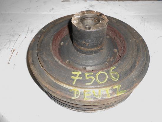 Poulie dumper vilebrequin moteur 2 gorges tracteur deutz f6l912 d 7506