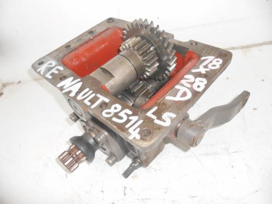 Prise de mouvement 4x4 cloche boitier entrainement arbre pont avant tracteur renault 8514ls 85 14ls 85 14 ls 18 28 dents